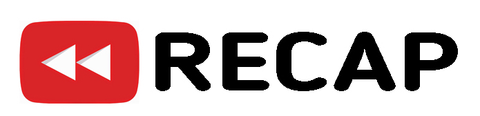 "Rewind logo with the word ""Recap"""