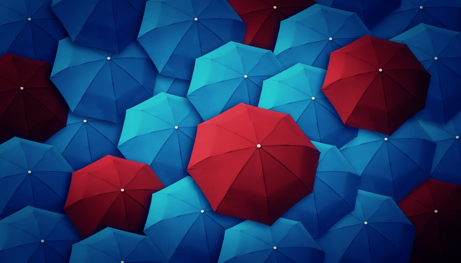 Abstract of umbrellas